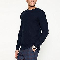 J by Jasper Conran - Navy basket weave knit jumper