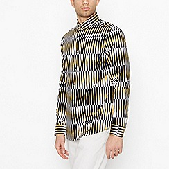 J by Jasper Conran - Yellow Shard Long Sleeve Regular Fit Shirt
