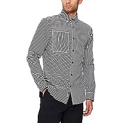 J by Jasper Conran - White striped long sleeve regular fit shirt
