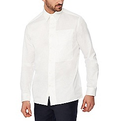 J by Jasper Conran - White cotton long sleeve regular fit shirt