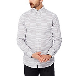 J by Jasper Conran - Grey irregular check long sleeve regular fit shirt