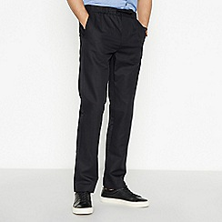 J by Jasper Conran - Black Tailored Fit Trousers with Linen