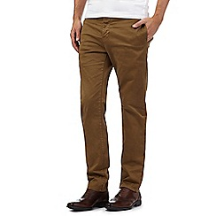 J by Jasper Conran - Big and tall tan sateen straight leg chinos