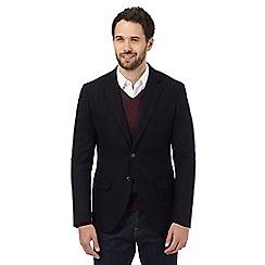 J by Jasper Conran - Big and tall navy wool rich single breast jacket