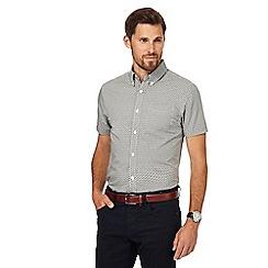 J by Jasper Conran - Big and tall khaki geometric print regular fit shirt