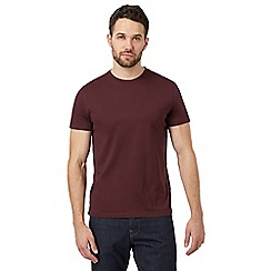 J by Jasper Conran - Dark red supima cotton crew neck t-shirt