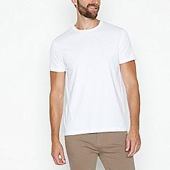 J by Jasper Conran - White supima cotton crew neck t-shirt