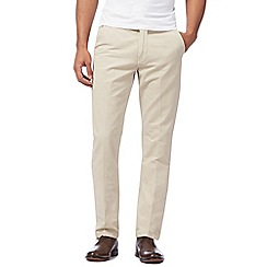 J by Jasper Conran - Beige straight fit chinos