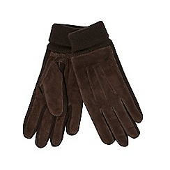 The Collection - Brown suede gloves