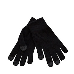 The Collection - Black touch screen gloves