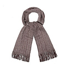 Red Herring - Wine red reversible twisted scarf