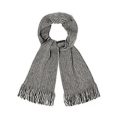 Red Herring - Grey reversible twisted scarf