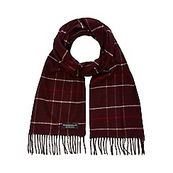 Hammond & Co. by Patrick Grant - Dark red checked scarf