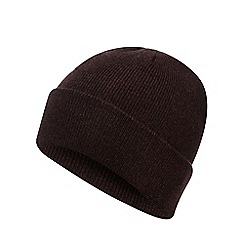 Red Herring - Wine red twisted knit beanie hat