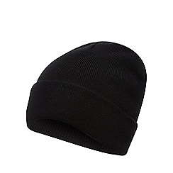 Red Herring - Black plain beanie hat