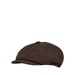 The Collection - Brown moulded baker boy cap