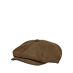 The Collection - Khaki moulded baker boy cap