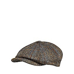 RJR.John Rocha - Blue harris tweed baker boy cap
