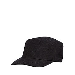 J by Jasper Conran - Dark grey melton borg lined hat