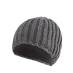 Maine New England - Grey knitted thermal beanie hat