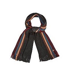 Mantaray - Dark grey side striped scarf