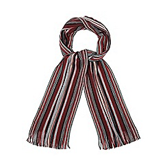The Collection - Red and grey stripe scarf