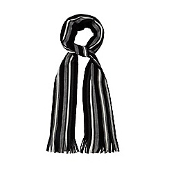 The Collection - Black striped scarf