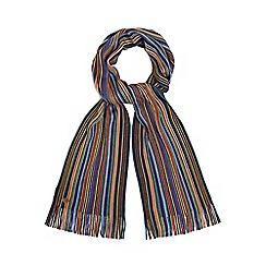Mantaray - Multi-coloured bright fine stripe scarf