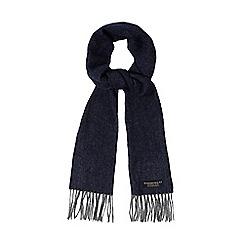 Hammond & Co. by Patrick Grant - Blue herringbone wool scarf
