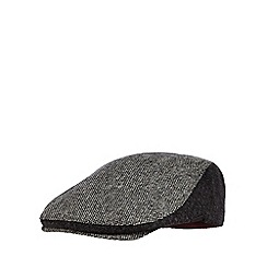 J by Jasper Conran - Grey panelled tweed flat cap