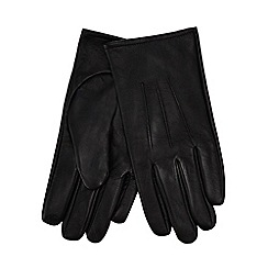 The Collection - Black leather touch screen gloves