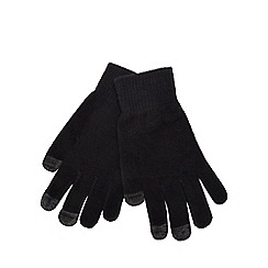 The Collection - Black touch screen knit gloves