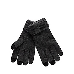 Mantaray - Grey Touch Screen Wool Rich Gloves