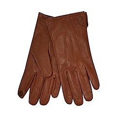 Hammond & Co. by Patrick Grant - Tan touch screen leather gloves