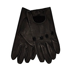 Hammond & Co. by Patrick Grant - Black leather driving gloves