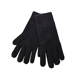 Maine New England - Black thermal knit gloves
