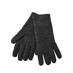 Maine New England - Grey thermal knit gloves