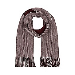 Red Herring - Wine reversible twist knit scarf