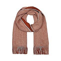 Red Herring - Dark orange reversible twist knit scarf