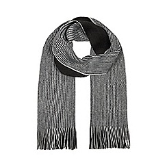 Red Herring - Dark grey reversible twist knit scarf