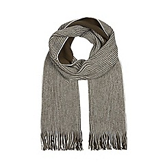 Red Herring - Khaki reversible twist knit scarf