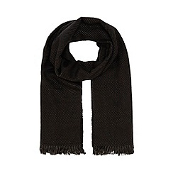 The Collection - Black geometric print scarf