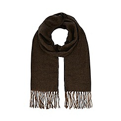 The Collection - Brown herringbone scarf