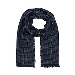 The Collection - Blue checked scarf