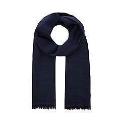 J by Jasper Conran - Navy wool blend herringbone scarf