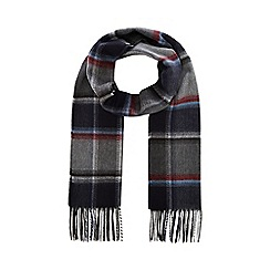 Hammond & Co. by Patrick Grant - Grey herringbone check scarf