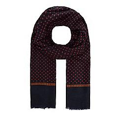 Hammond & Co. by Patrick Grant - Navy geometric print dress scarf