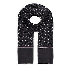 Hammond & Co. by Patrick Grant - Grey polkadot print dress scarf
