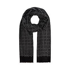 06e1fa7b354 Hammond   Co. by Patrick Grant - Black printed dress scarf