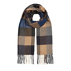 bfe03e80dde Hammond   Co. by Patrick Grant - Tan and navy block checked scarf